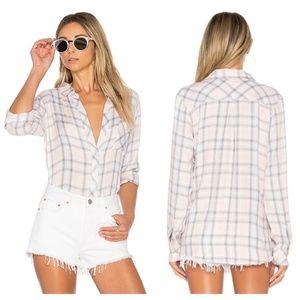 Rails Hunter Blush Dove Plaid Shirt Size M